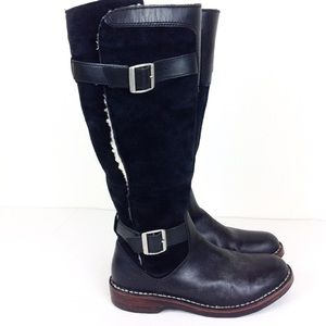 UGG Dunwich Black Shearling Tall Boots 7